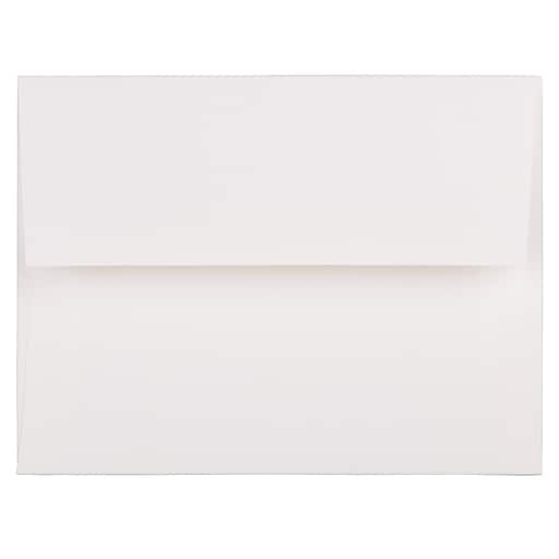 JAM Paper® A2 Strathmore Invitation Envelopes, 4.375 x 5.75, Bright White Linen, Bulk 1000/Carton (66670B)
