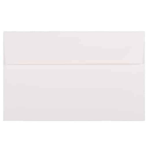 JAM Paper® A10 Strathmore Invitation Envelopes, 6 x 9.5, Bright White Linen, Bulk 1000/Carton (93453B)
