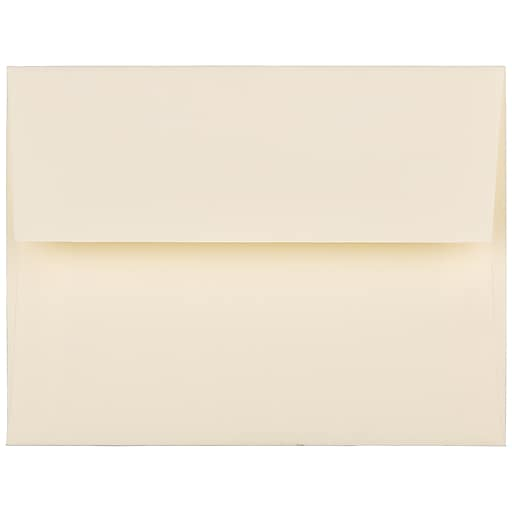 JAM Paper® A2 Strathmore Invitation Envelopes, 4.375 x 5.75, Ivory Laid, 25/Pack (191158)
