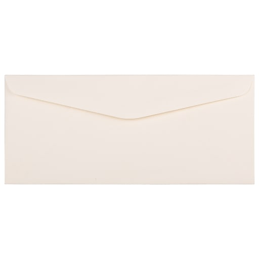 JAM Paper® #10 Business Strathmore Envelopes, 4.125 x 9.5, Natural White Linen, Bulk 1000/Carton (191170B)