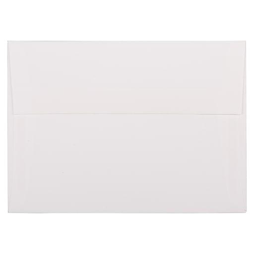 JAM Paper® A7 Strathmore Invitation Envelopes, 5.25 x 7.25, Bright White Linen, Bulk 250/Box (191189H)