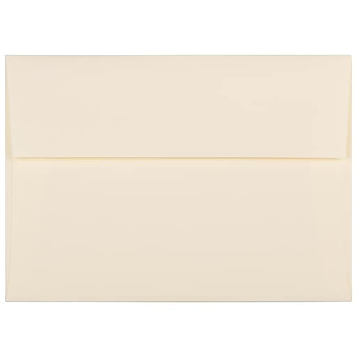 JAM Paper® A7 Strathmore Invitation Envelopes, 5.25 x 7.25, Ivory Laid, Bulk 250/Box (191203H)