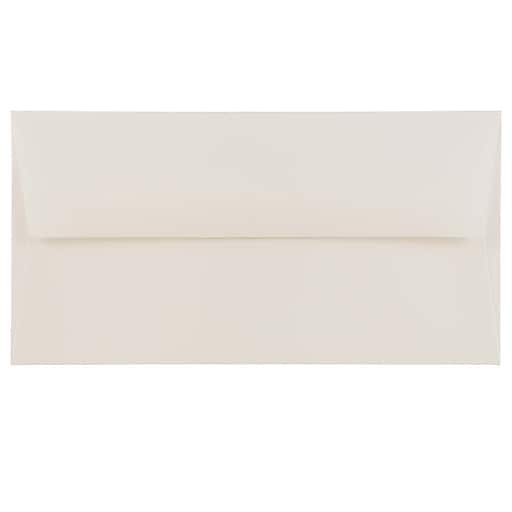 JAM Paper® Monarch Strathmore Invitation Envelopes, 3.875 x 7.5, Bright White Wove, 50/Pack (196556I)