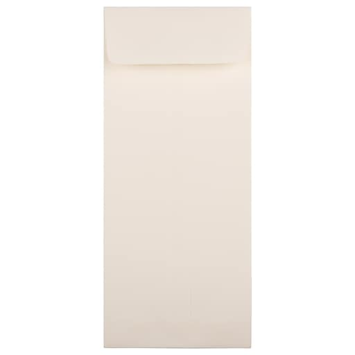 JAM Paper® #11 Policy Business Strathmore Envelopes, 4.5 x 10.375, Natural White Wove, 50/Pack (900905923I)