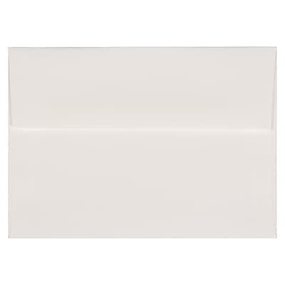 """JAM Paper® A7 Invitation Envelopes, 5.25"""" x 7.25"""", Strathmore Bright White Laid, 50/Pack (3TTL711I)"""