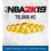 PS4 – Jeu NBA 2K19: ensemble 75000 VC [téléchargement]