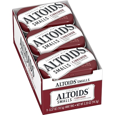 Altoids Smalls Sugar Free Cinnamon Mints, 0.37 oz, 9 Count