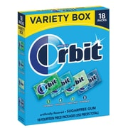 Orbit Mint Gum Sugar Free Variety Pack, 18 Count