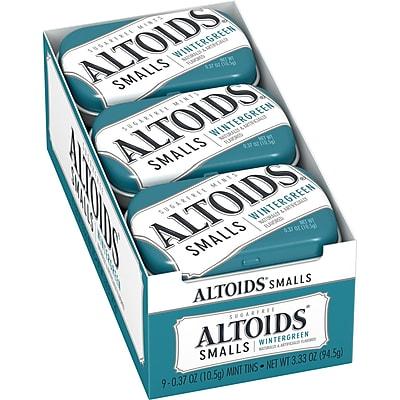 Altoids Smalls Wintergreen Sugarfree Mints, 0.37 oz, Pack of 9 (209-00487)