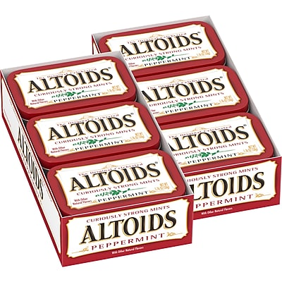 Altoids Curiously Strong Mints, Peppermint , 1.76 oz, 12 Count