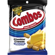 COMBOS Cheddar Cheese Cracker Baked Snacks 6.3oz Bag, Pack of 12 (MMM42007)