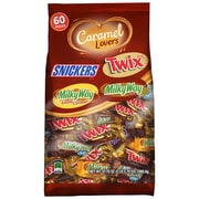 MARS Chocolate Caramel Lovers Fun Size Candy Bars Variety Mix Bag 37.7 oz, 60 Piece (225-00031)