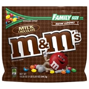 M&M'S Milk Chocolate Candy Family Size Bag, 19.2 oz (24908)