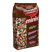 Snickers, Twix, Milky Way & 3 Musketeers Individually Wrapped Minis Size Chocolate Bars, 4 lb. Variety Mix Bag (MMM50972)