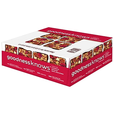 GoodnessKnows Cranberry Almond Dark Chocolate, 12/BX