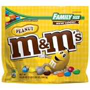 M&M'S Peanut Chocolate Candy Family Size Bag, 19.2 oz (24929)