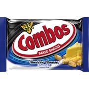 COMBOS Baked Snacks, Cheddar Cheese Cracker Singles, 1.7oz (Pack of 18) (209-00411)