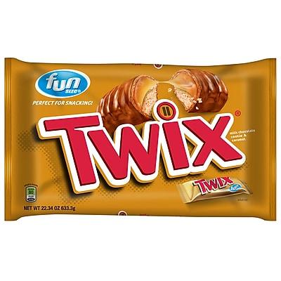 Twix Caramel Fun Size Candy, 4 Pack, 54.15 Oz.