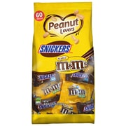 MARS Chocolate Peanut Lovers Fun Size Candy Bars Assorted Variety Mix Bag, 36.7 oz. 60 Pieces (225-00032)