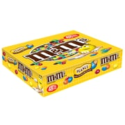 M&M'S Peanut Chocolate Candy Singles Size Pouches, 1.74 oz, Pack of 48 (MMM01232)