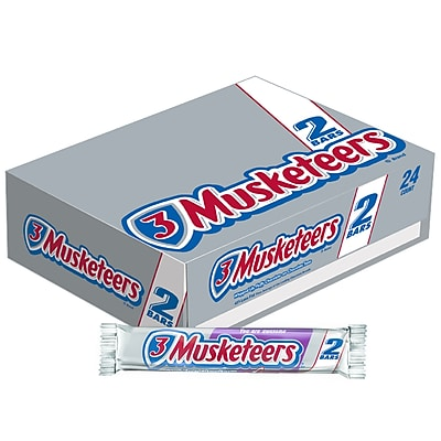 3 Musketeers® King Size Candy Bar, 3.28 oz. Bars, 24 Bars/Box