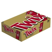 TWIX Caramel Sharing Size Chocolate Cookie Bar Candy, 3.02 oz Bar, Pack of 24 (MMM35387)