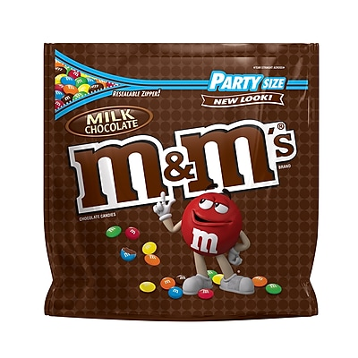 M&M'S Milk Chocolate Candy, 42 oz Party Size Resealable Bag (MMM32438)