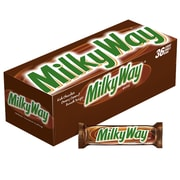 MILKY WAY Milk Chocolate Singles Size Candy Bars, 1.84 oz, Pack of 36 (MMM42206)