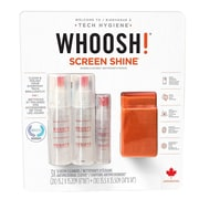 WHOOSH! Combo 3.4oz + 3/Pack Cloths