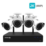 Defender 2K 4MP Wireless 4-Channel 1TB NVR Security System with Remote Viewing and 4 Wide Angle Wi-Fi Cameras (W2K1T4B4)