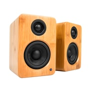 Kanto YU2 Powered Desktop Speakers with Built-in USB DAC, Bamboo