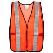 Cordova – Veste en maille orange non cotée, avec ruban réflecteur 2 po, fermeture au velcro, taille unique, paq./12