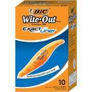 """BIC Wite-Out Exact Liner Correction Tape, 0.20"""" Width x 19.80 ft Length, White Tape, Comfortable, Easy to Use, Odorless, 10/Box"""