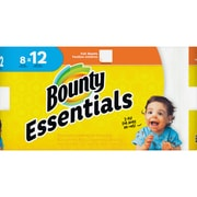 Bounty Essentials Paper Towel Rolls, 2 Ply, 60 Sheets/Roll, White, For Kitchen, 8 Rolls Per480 Sheets Per Carton, 480/Carton