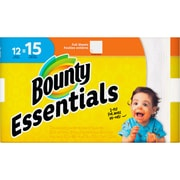 Bounty Essentials Paper Towel Rolls, 2 Ply, 50 Sheets/Roll, White, For Kitchen, 12 Rolls Per600 Sheets Per Carton, 600/Carton