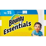 Bounty Essentials Select-A-Size Towels, 2 Ply, 78 Sheets/Roll, White, For Kitchen, 936 Sheets Per Carton, 12/Carton