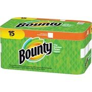 Bounty Paper Towel Rolls, 2 Ply, 36 Sheets/Roll, White, Absorbent, For Kitchen, 540 Sheets Per Carton, 540/Carton