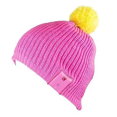 93af313151e Caseco Blu-Toque Dual-Layered Winter Bluetooth Speaker Hat, Pink/Yellow  Pom-Pom (CC-BTQ-STRBST)