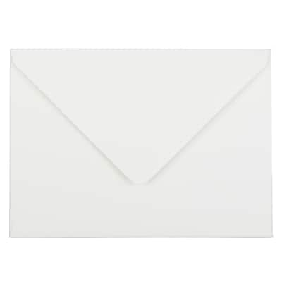 JAM Paper® A7 Invitation Envelopes, 5.25 x 7.25, Strathmore Bright White Wove, 250/box (1921392H)