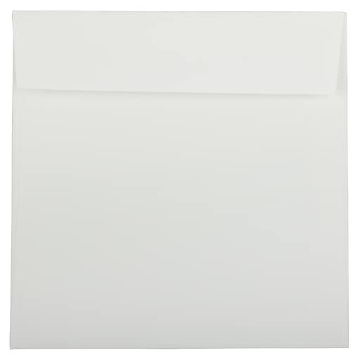 JAM Paper® 8.5 x 8.5 Square Strathmore Invitation Envelopes, Bright White Wove, Bulk 1000/Carton (900858534B)