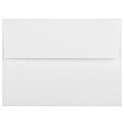 JAM Paper® A6 Invitation Envelopes, 4.75 x 6.5, Strathmore Bright White Linen, 50/pack (3137I)