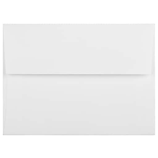 JAM Paper® A6 Strathmore Invitation Envelopes, 4.75 x 6.5, Bright White Linen, 50/Pack (3137I)