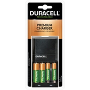 Duracell Premium Charger, Includes 2 AA and 2 AAA NiMH Batteries