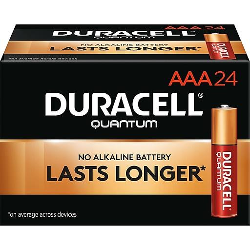 Duracell Quantum AAA Alkaline Batteries, 24/Pack