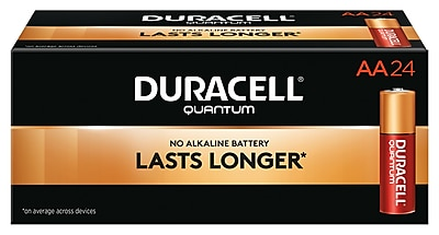 Duracell Quantum AA Alkaline Batteries, 24/Pack