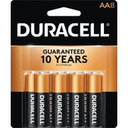 Duracell® Coppertop® AA Alkaline Batteries, 8/Pack