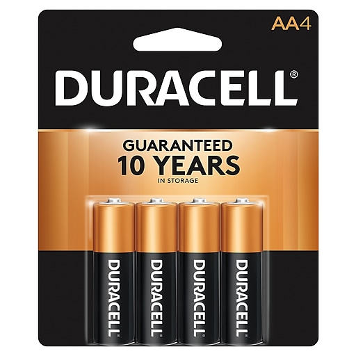 Duracell Coppertop AA Alkaline Batteries, 4/Pack