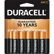 Duracell® Coppertop® AA Alkaline Batteries, 10/Pack
