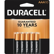 Duracell® Coppertop® AAA Alkaline Batteries, 10/Pack