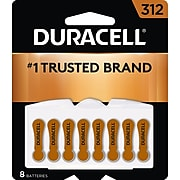Duracell Size 312 Hearing Aid Batteries, 8/Pack (DA312B8ZM09)